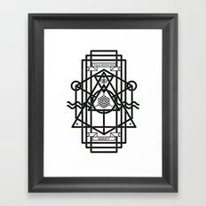 FALX MYSTICUS White Framed Art Print
