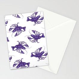 Le Lobster Bleu Stationery Cards