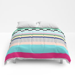 Stripes Mixed Print and Pattern with Color blocking Comforters