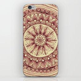 mandala: maroon iPhone Skin