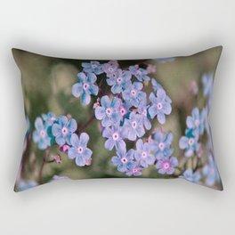 Blue Flower Sunset Rectangular Pillow
