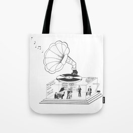 How does a Gramophone actually work? Tote Bag