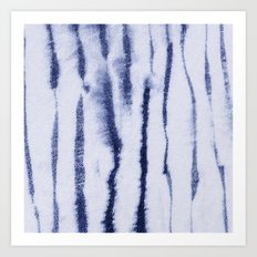 Indigo Ink Washed Lines Art Print