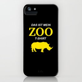 Funny Zoo Visit Shirt Rhino iPhone Case