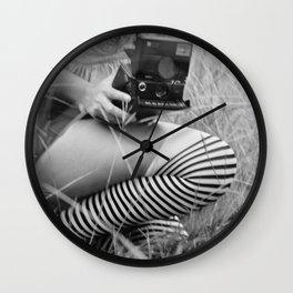 Polaroid Girl Wall Clock