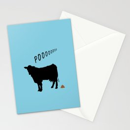 Cow's POO Stationery Cards