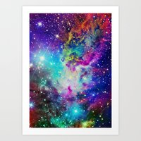 nebula Art Prints featuring Fox Nebula by Starstuff