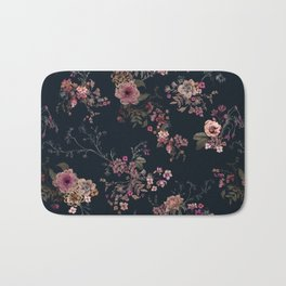 Japanese Boho Floral Bath Mat