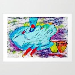 Dance to the goddess yemaya 1 Art Print
