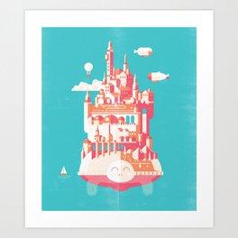 Turtle City Art Print