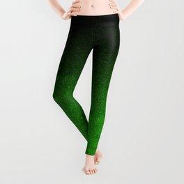 Green & Black Glitter Gradient Leggings