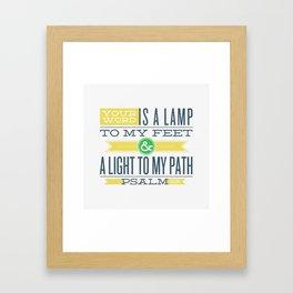 Psalm 119:105 Bible Verses Framed Art Print