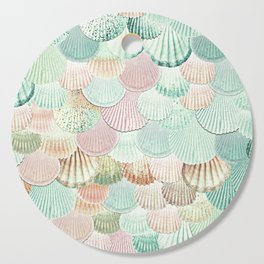 MERMAID SHELLS - MINT & ROSEGOLD Cutting Board