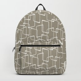 Retro Rounded Rectangles in Medium Warm Gray Backpack
