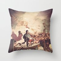 tv Throw Pillows featuring 'Television' by Tim Green