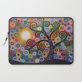 Abstract Art Landscape Original Painting ... Memory of Magic Laptop Sleeve