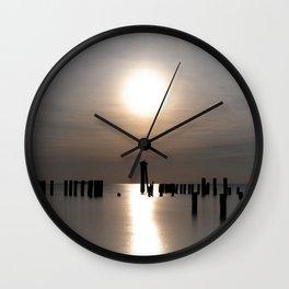 Rose Gold Sunset At Cape Charles Wall Clock