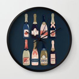 French Champagne Collection – Teal Wall Clock