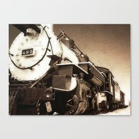 train Canvas Prints featuring Train by SteeleCat
