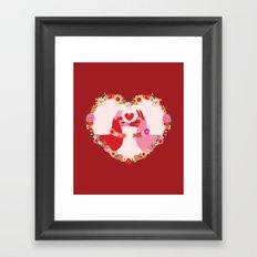 Llama lovin Framed Art Print