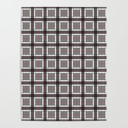 Gray Plaid Pattern Poster