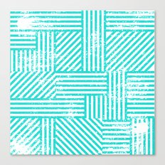 Turquoise Stripes Canvas Print