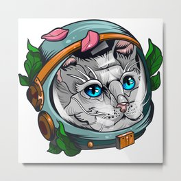 Spacecat Metal Print