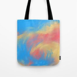 Wave of fire Tote Bag