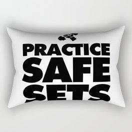 Practice Safe Sets Rectangular Pillow