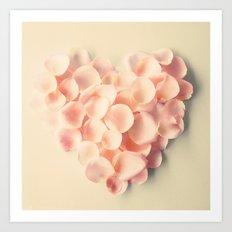 Flower Petal Heart Art Print