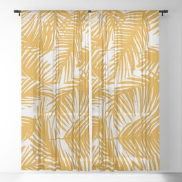 Tropical Pattern 02B Sheer Curtain