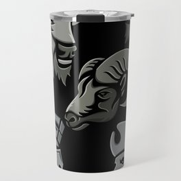 Metallic Sports Icons Collection Set Travel Mug