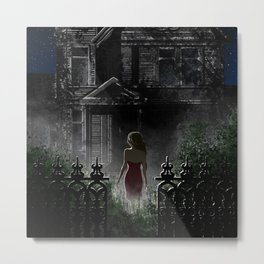 "Old house, ""Red Dress"" Collection  Metal Print"