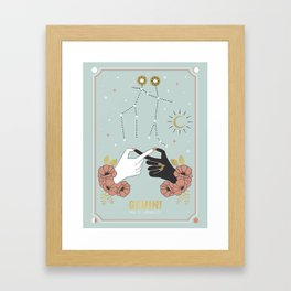 Gemini Zodiac Series Framed Art Print