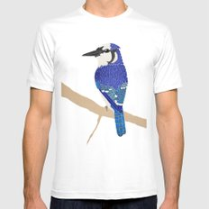 Blue Jay Mens Fitted Tee MEDIUM White