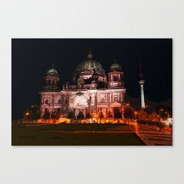 sketch / illustation of the berlin cathedral  Canvas Print