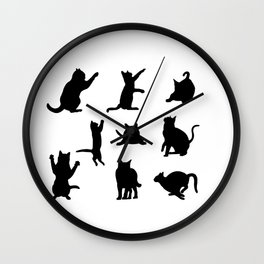 Cat Silhouette Wall Clock