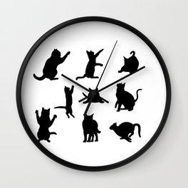 Cat Silhouette Wall Clock