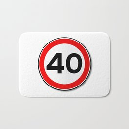 40 MPH Limit Traffic Sign Bath Mat