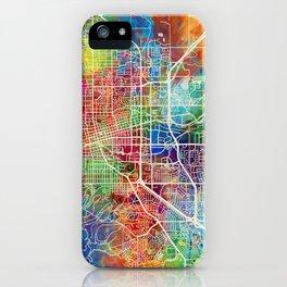 Boulder Colorado City Map iPhone Case