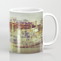 carousel Mugs featuring Carousel  by Amber Hakim