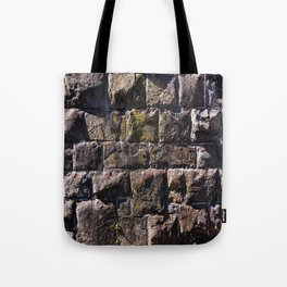 Moss on Stone Wall rustic decor Tote Bag