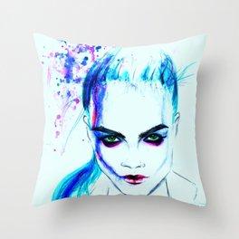 Cara as Laureline Throw Pillow