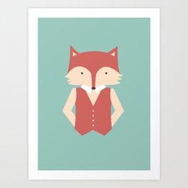 Mr. Foxy Art Print