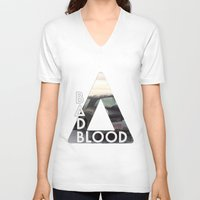 bastille V-neck T-shirts featuring Bastille - Bad Blood by Thafrayer