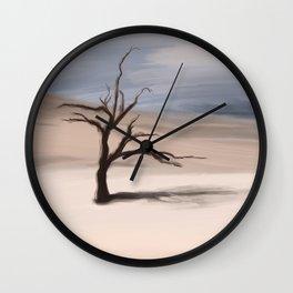 Alone Tree Wall Clock
