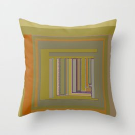 Anomaly in Brown Stripes graphic design Throw Pillow