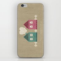 home sweet home iPhone & iPod Skins featuring Home by Teo Zirinis
