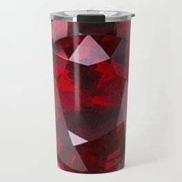 RED GARNET GEMS JANUARY BIRTHSTONE Travel Mug