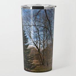 Beautiful Conifer Tree Forest Landscape Travel Mug